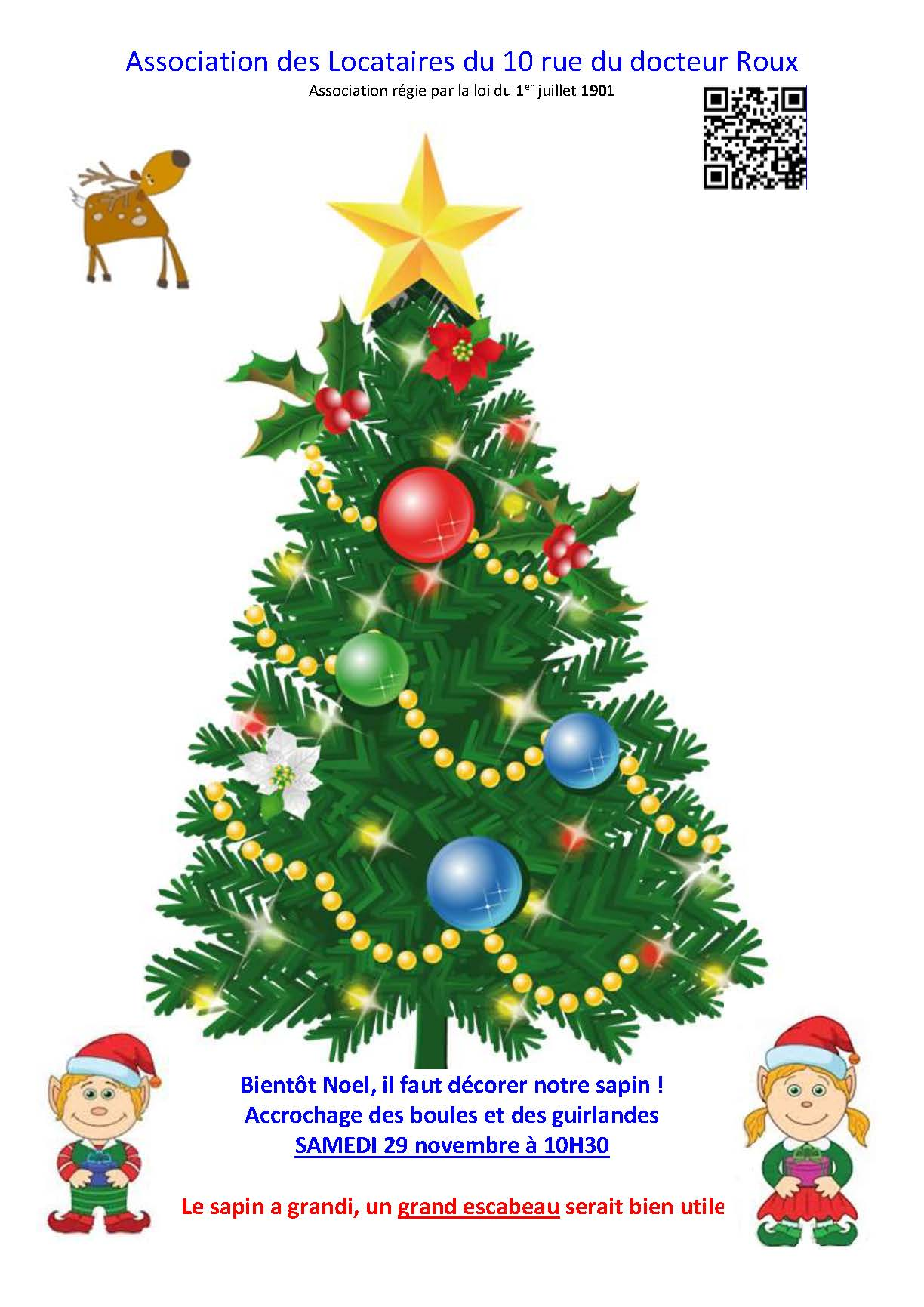 affiche sapin de Noel 2019